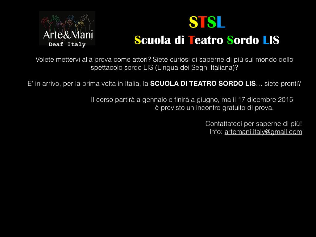 Scuola di Teatro Sordo LIS 2016