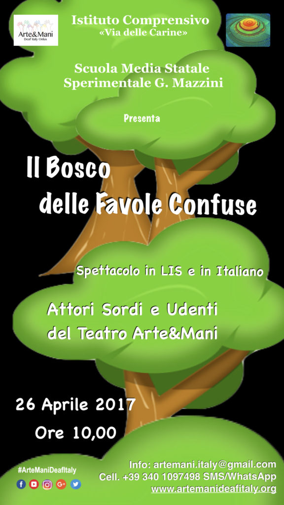 Locandina Il Bosco dlle Favole Confuse Scuola G. Mazzini
