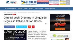 Oltre gli occhi Dramma in Lingua dei Segni e in Italiano al Don Bosco