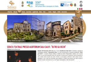 "SERATA TEATRALE PRESSO AUDITORIUM SALA SALVI : ""OLTRE GLI OCCHI"""