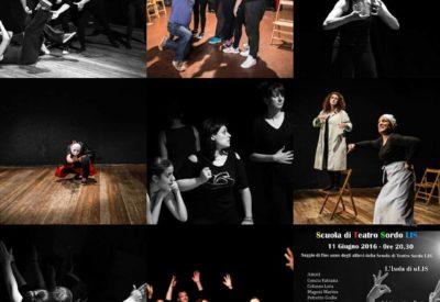 il saggio di fine dell'anno degli allievi della Scuola di Teatro Sordo LIS 2016