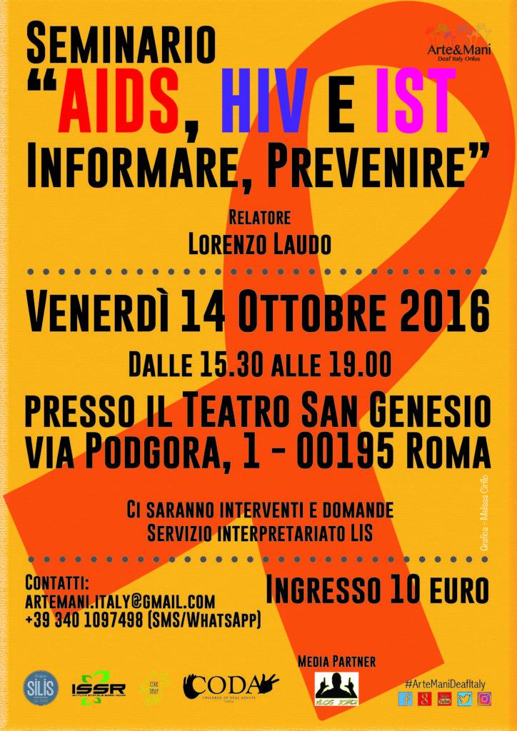 AIDS, HIV e IST: Informare, Prevenire, 14 ottobre 2016