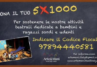 5X1000 Arte&mani - Deaf Italy Onlus